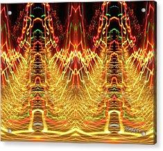 Abstract Christmas Lights #175 Acrylic Print