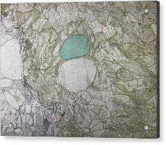 Abstract City Map Acrylic Print by Edina Besic