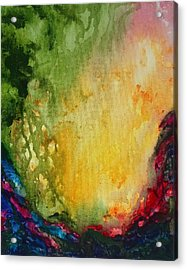 Abstract Color Splash Acrylic Print
