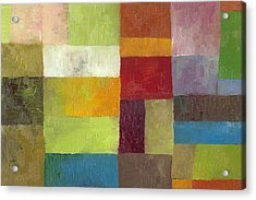 Acrylic Print featuring the painting Abstract Color Study Lv by Michelle Calkins