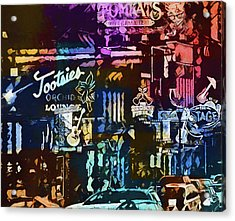 Abstract Colorful Downtown Nashville Acrylic Print