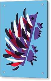 Abstract Colorful Hedgehog Acrylic Print