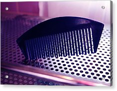 Abstract Comb Acrylic Print by Brenda Myers