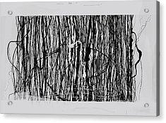 Abstract Composition 136 Acrylic Print by Angel Estevez