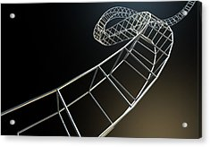 Abstract Contruction Spiral Acrylic Print