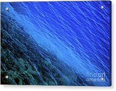 Abstract Crater Lake Blue Water Acrylic Print