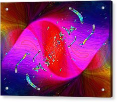 Acrylic Print featuring the digital art Abstract Cubed 354 by Tim Allen