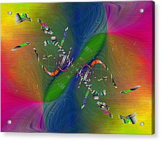 Acrylic Print featuring the digital art Abstract Cubed 356 by Tim Allen
