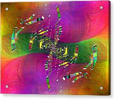 Acrylic Print featuring the digital art Abstract Cubed 357 by Tim Allen