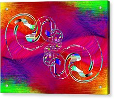 Acrylic Print featuring the digital art Abstract Cubed 360 by Tim Allen