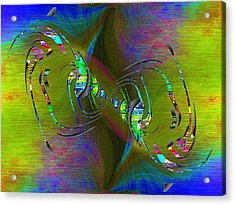 Acrylic Print featuring the digital art Abstract Cubed 361 by Tim Allen