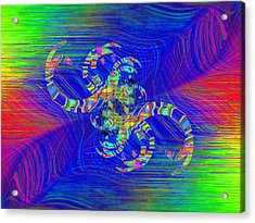 Acrylic Print featuring the digital art Abstract Cubed 362 by Tim Allen