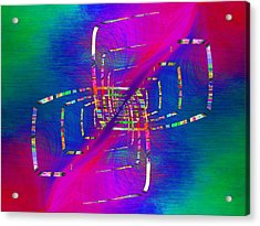 Acrylic Print featuring the digital art Abstract Cubed 363 by Tim Allen