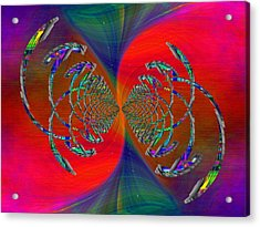 Acrylic Print featuring the digital art Abstract Cubed 366 by Tim Allen