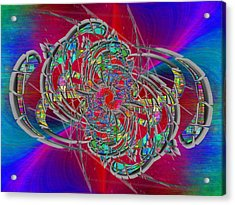 Acrylic Print featuring the digital art Abstract Cubed 367 by Tim Allen