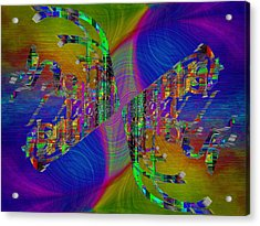 Acrylic Print featuring the digital art Abstract Cubed 368 by Tim Allen