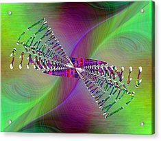 Acrylic Print featuring the digital art Abstract Cubed 370 by Tim Allen