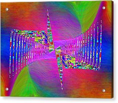 Acrylic Print featuring the digital art Abstract Cubed 373 by Tim Allen