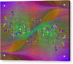 Acrylic Print featuring the digital art Abstract Cubed 376 by Tim Allen