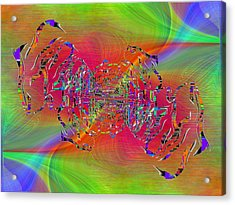 Acrylic Print featuring the digital art Abstract Cubed 382 by Tim Allen