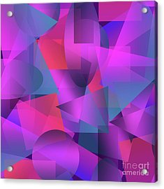 Abstract Cubes Acrylic Print
