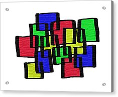 Abstract Cubicles Acrylic Print by Priscilla Wolfe