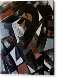 Abstract Cubism Michael Jackson Art Print Acrylic Print by Tommervik