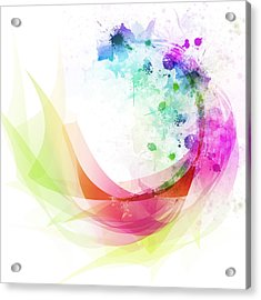 Abstract Curved Acrylic Print