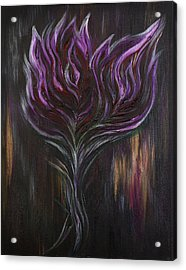 Abstract Dark Rose Acrylic Print