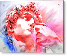 Acrylic Print featuring the painting Abstract David Michelangelo 1 by J- J- Espinoza