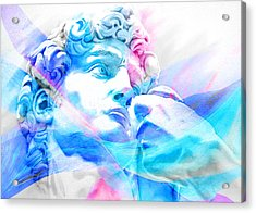 Acrylic Print featuring the painting Abstract David Michelangelo 3 by J- J- Espinoza