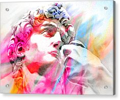 Acrylic Print featuring the painting Abstract David Michelangelo 4 by J- J- Espinoza