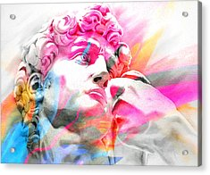 Acrylic Print featuring the painting Abstract David Michelangelo 5 by J- J- Espinoza
