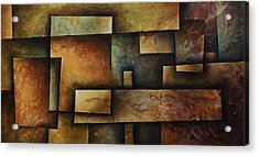 Abstract Design 9 Acrylic Print by Michael Lang