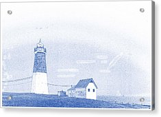 Abstract Drawing Of Lighthouse No 5 Acrylic Print