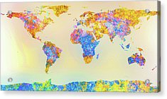Abstract Earth Map 2 Acrylic Print by Bob Orsillo