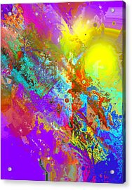 Abstract Eight-chroma Acrylic Print by Patricia Motley