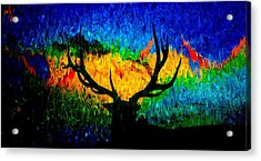 Abstract Elk Scenic View Acrylic Print