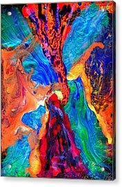 Abstract - Evolution Series 1004 Acrylic Print by Dina Sierra