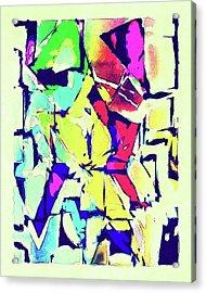 Abstract Explosion Acrylic Print by Susan Leggett