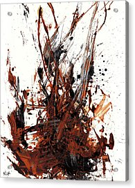 Abstract Expressionism Painting 50.072110 Acrylic Print by Kris Haas