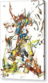 Acrylic Print featuring the painting Abstract Expressionism Painting Series 1040.050812 by Kris Haas