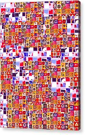 Abstract Expressionist Collage Acrylic Print by Richard Tuvey