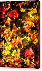 Abstract Fall Vine Acrylic Print