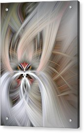 Abstract Fire And Ice Acrylic Print
