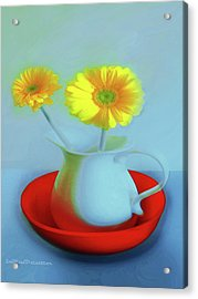 Abstract Floral Art 268 Acrylic Print