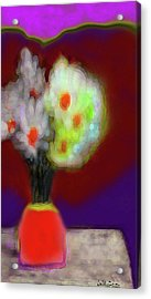 Abstract Floral Art 340 Acrylic Print