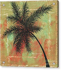 Abstract Floral Fauna Palm Tree Leaf Tropical Palm Splash Abstract Art By Megan Duncanson  Acrylic Print