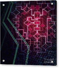 Abstract Flowchart Background Acrylic Print