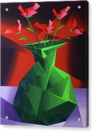 Abstract Flower Vase Prism Acrylic Painting Acrylic Print